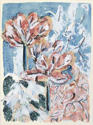 Amy Wright - Autumn Trees In Moon Shadows - Work on paper