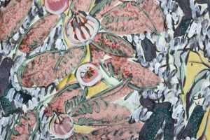 Amy Wright - Pomegranate and Begonia - Work on paper