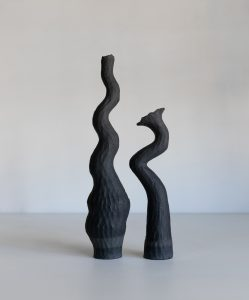 Kerryn Levy - Asymmetry Pair 20.28/29 - Ceramic Sculpture