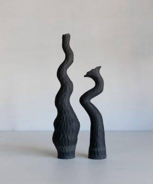 Kerryn Levy - Asymmetry Pair 20.28/29 - Ceramic Sculpture