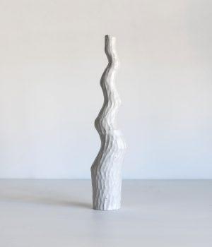Kerryn Levy - Asymmetry Pair White 20.04./07 - Ceramic Sculpture