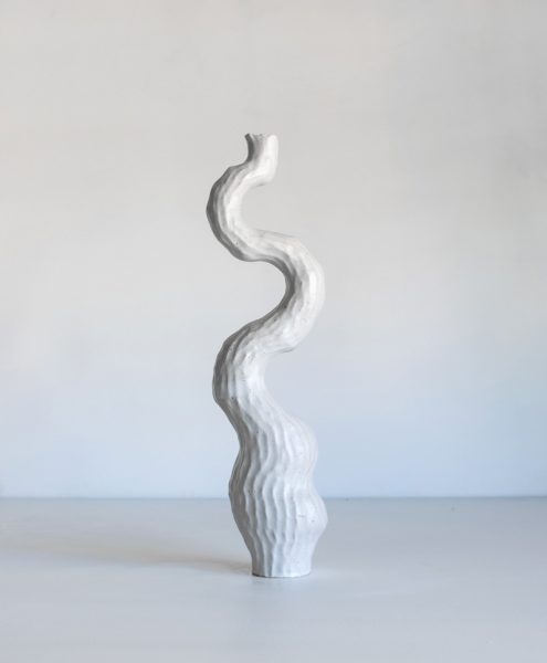 Kerryn Levy - Asymmetry Pair White 20.04./07 - Ceramic Sculpture