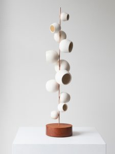 Odette Ireland - Pod Totem White - Ceramic Sculpture