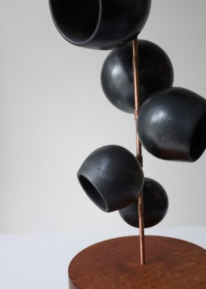 Odette Ireland - Pod Totem Black - Ceramic Sculpture