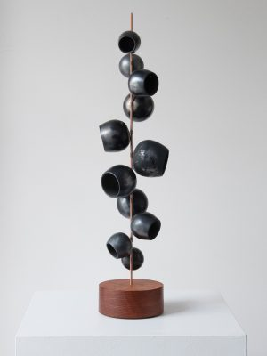 Odette Ireland - Pod Totem Black - Ceramic Sculpture