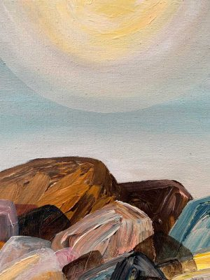 Ingrid Daniell - Time Basking In The Sun - Landscape Painting