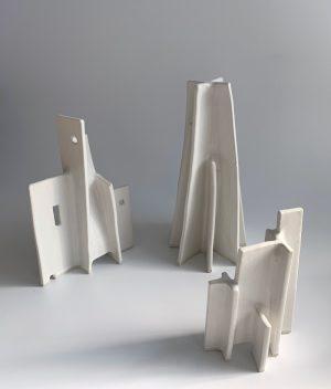Natalie Rosin - Maquette 6 - Ceramic Sculpture