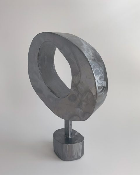 Tracey Lamb - Quiet Night In - Steel Sculpture