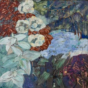 Amy Wright - Lace Hydrangea on Lake Island - Landscape Painting