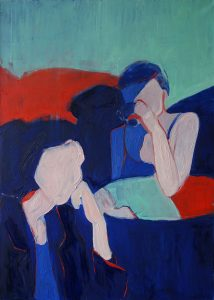 Maria Kostareva - Bored Women - Oil on canvas