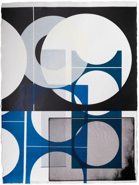 Kate Banazi - Blue Facade 8 - Silkscreen Print