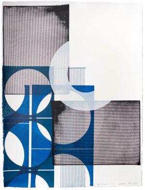 Kate Banazi - Blue Facade 11 - Silkscreen Print