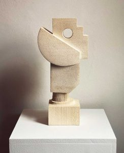 Lucas Wearne - Form Study 1 - Limestone Sculpture