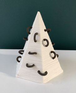 Susan Chen - Small Pyramid - Ceramic Sculpture