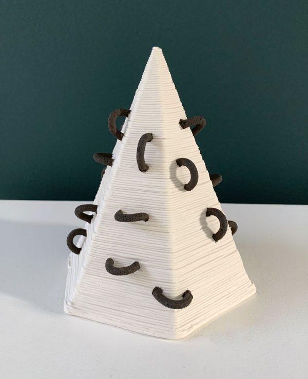 Susan Chen - Small Pyramid - Ceramic Sculpture