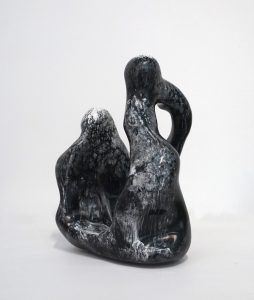 William Versace - Nonni Black + White - Resin Sculpture