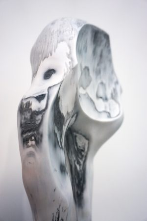 William Versace - Ancestor Black and White - Resin Sculpture