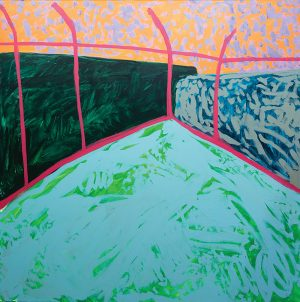 Amber Hearn - Lands Court II - Landscape Painting