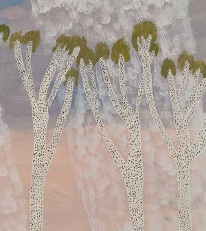 Ileigh Hellier - Trees In Rain - Painting
