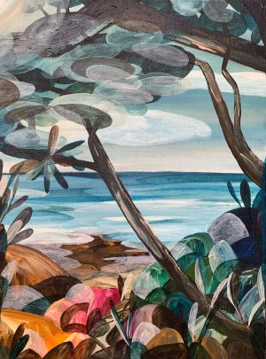 Ingrid Daniell - Low Tide Calls, The Path To Future Hope - Landscape Painting