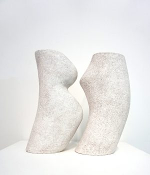 Katarina Wells - Cheek To Cheek - Sculpture Pair