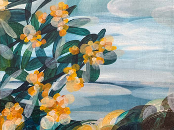 Ingrid Daniell - Wattle Frames The Hopeful View - Landscape Painting