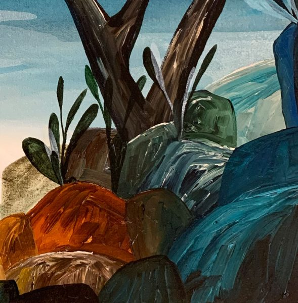 Ingrid Daniell - Dreaming Beyond the Trees, Somewhere - Landscape Painting