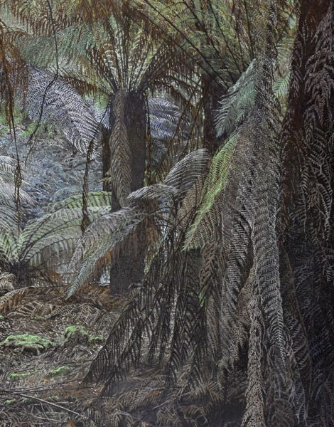 Laura Patterson - Russell Falls Ferns House - Landscape Painting