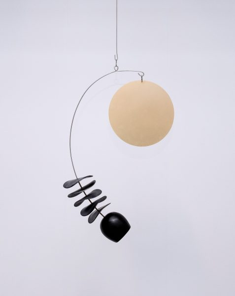 Odette Ireland - Mobile With Large Brass Disc - Sculpture