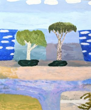 Ileigh Hellier - Trees In The Breeze - Painting