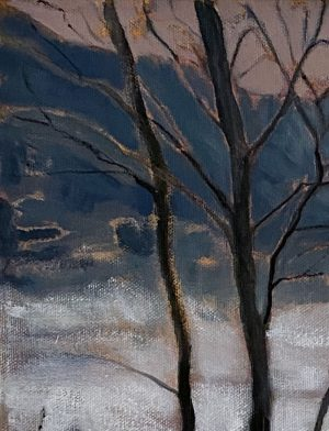 Ben Crawford - In the Bruise-coloured Dusk of a New World - Painting