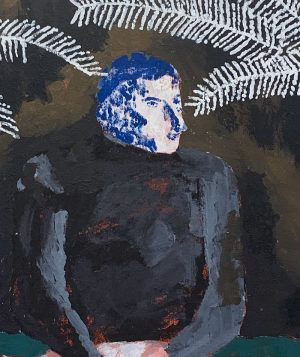 Darcy McRae - Portrait of Cy Twombly - Painting