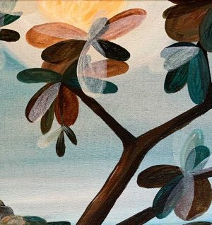 Ingrid Daniell - On Edge Looking At The Sun - Painting