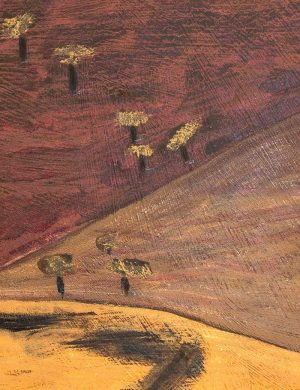 Kerrie Oliver - Foraging for Mulberries out Wollombi Way - Mixed Media Work