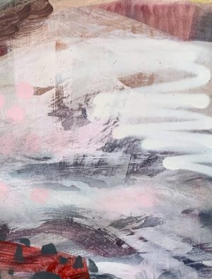 Fleur Stevenson - Teaversing Ben Lomond - work on paper