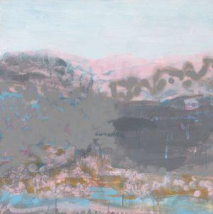 Susie Dureau - Burning Mountain at Wingen - Painting