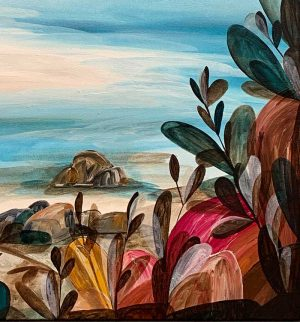 Ingrid Daniell - The Lagoon Was Blissful And Full This Summer - Landscape Painting