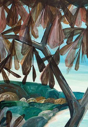Ingrid Daniell - Full Lagoon Days, Halcyon Summer - Landscape Painting