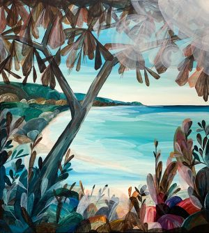 Ingrid Daniell - Full Lagoon Days, Halcyon Summer - Landscape Painting