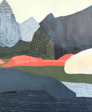 Lily Cummins - While in the Secret Dark a Fresh Snow Falls Filling Our Tracks with Stars - Work on paper