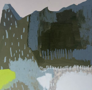 Lily Cummins - Ghostly Shapes Shadowing the Landscape - Painting