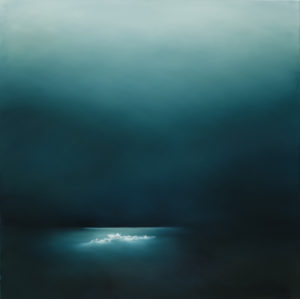 Whitewater Under Moonlight - Theresa Hunt - Painting