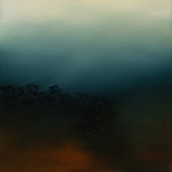 Theresa Hunt - Ochre Hill Under with White Gums - Painting