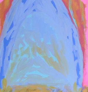 Blush Palm Mountain - Amber Hearn - Oil Painting