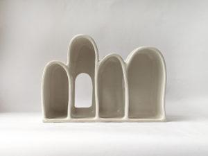 Natalie Rosin - Shelter in White - Ceramic Sculpture