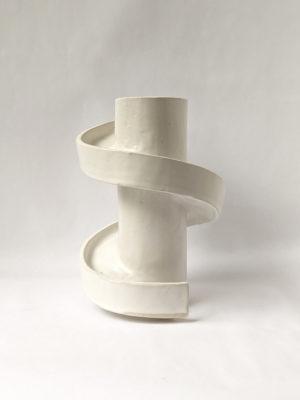 Natalie Rosin - Spiral Stair - Ceramic Sculpture
