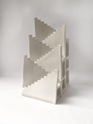 Natalie Rosin - Stair to Nowhere No 1 - Ceramic Sculpture