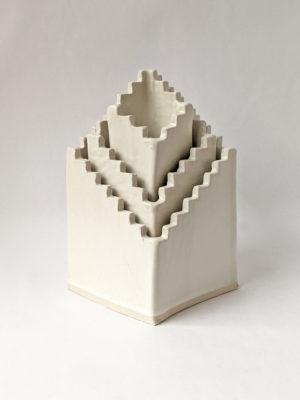 Natalie Rosin - Stair to Nowhere No 2 - Ceramic Sculpture