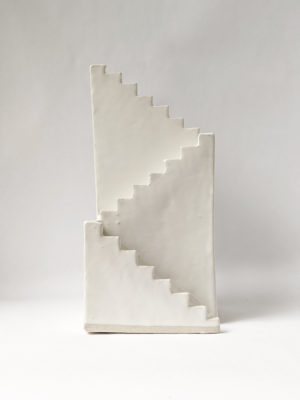 Natalie Rosin - Stair to Nowhere No 3 - Ceramic Sculpture