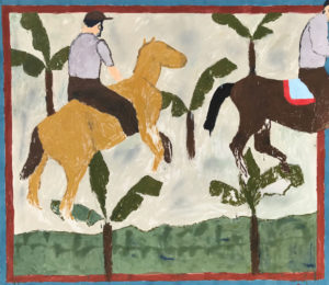 Horse Racing at Tyalgum I - Darcy McCrae - Painting